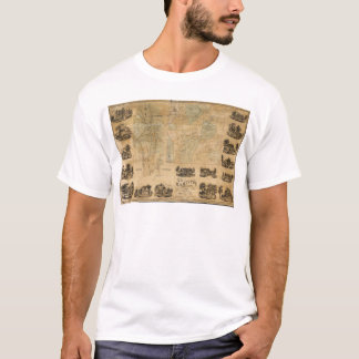 Camiseta Mapa de Hamilton, o Condado de Madison, New York