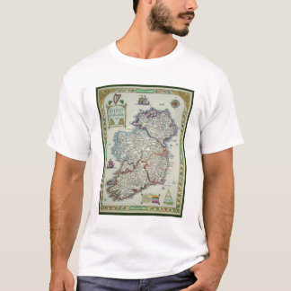 Camiseta Mapa de Ireland - mapa histórico de Eire Erin do