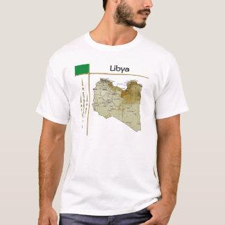Camiseta Mapa de Líbia + Bandeira + T-shirt do título