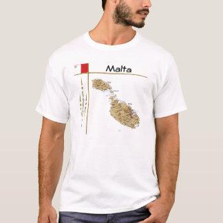 Camiseta Mapa de Malta + Bandeira + T-shirt do título