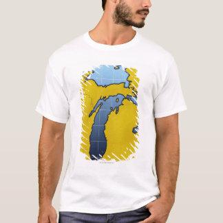 Camiseta Mapa de Michigan 2