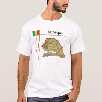 Camiseta Mapa de Senegal + Bandeira + T-shirt do título