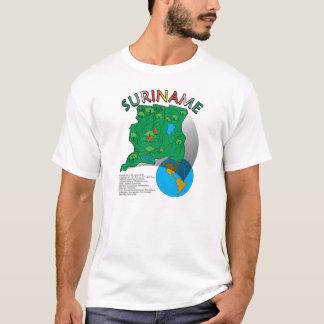 Camiseta Mapa de Suriname