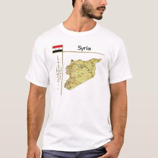 Camiseta Mapa de Syria + Bandeira + T-shirt do título