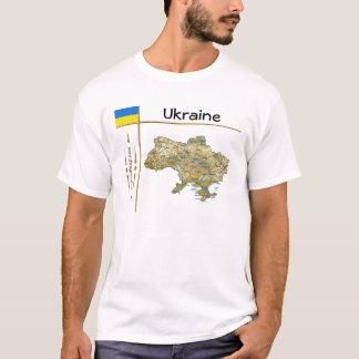 Camiseta Mapa de Ucrânia + Bandeira + T-shirt do título