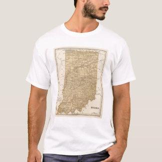 Camiseta Mapa do atlas de Indiana