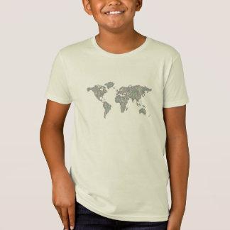 Camiseta Mapa do mundo