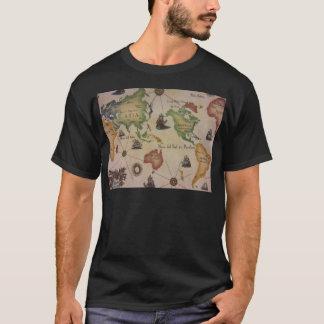 Camiseta Mapa do mundo o Pacífico