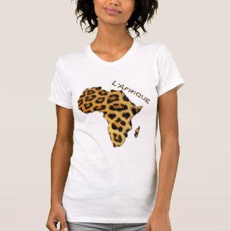 Camiseta Mapa do Pele-efeito do leopardo da série de ÁFRICA