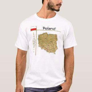 Camiseta Mapa do Polônia + Bandeira + T-shirt do título
