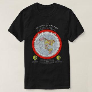 Camiseta Mapa do quadrado e do plano de terra liso