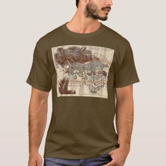 Camiseta Mapa do reconhecimento do lago Saranac do vintage