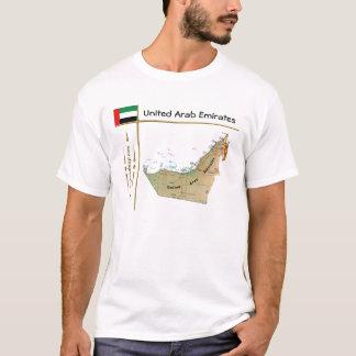 Camiseta Mapa dos UAE + Bandeira + T-shirt do título