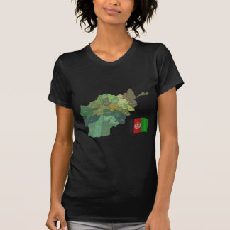 Camiseta Mapa e bandeira de Afeganistão