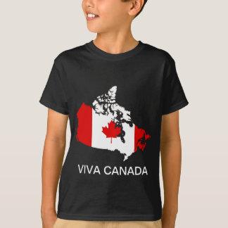 Camiseta Mapa e bandeira de Canadá