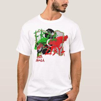 Camiseta Mapa livre da arte de Líbia de Líbia