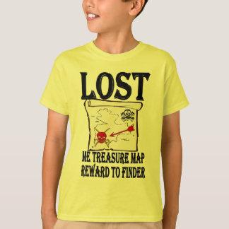 Camiseta Mapa perdido do tesouro do pirata