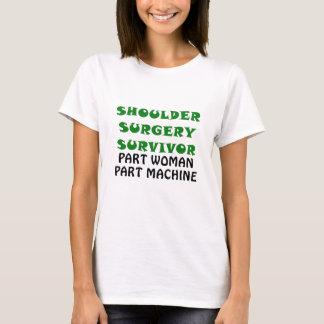 Camiseta Máquina da peça da mulher da peça do sobrevivente