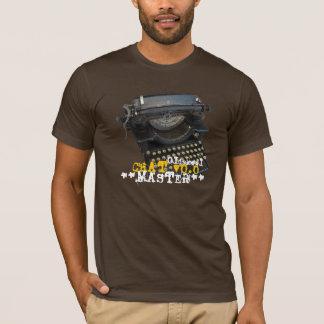 Camiseta Máquina de escrever antiga mestra do bate-papo