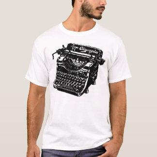 Camiseta Máquina de escrever da Olympia do vintage
