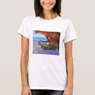 Camiseta Máquina de vôo de Steampunk