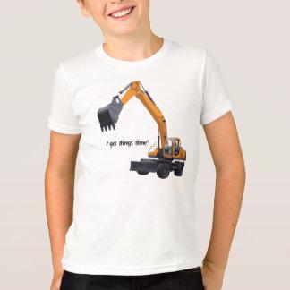 Camiseta Máquina escavadora grande da construção