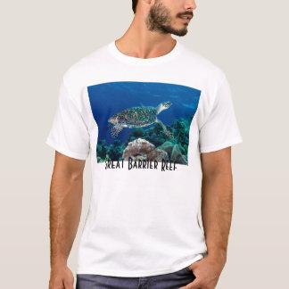 Camiseta Mar coral do grande recife de coral da tartaruga