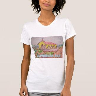 Camiseta Mar das caraíbas de Aruba