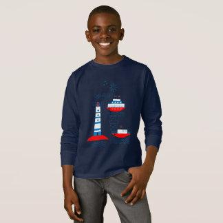 Camiseta Mar, navios, faróis