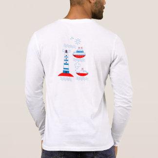Camiseta Mar, navios, faróis,