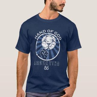 Camiseta Maradona mão de 86 campeonatos do mundo do deus