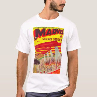 Camiseta Maravilha ciência histórias t-shirt da polpa do