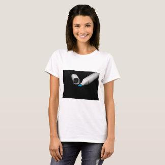 Camiseta Marcador azul da caneta