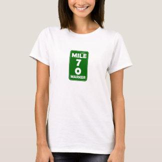 Camiseta Marcador da milha da vida - 70