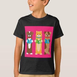 Camiseta Marcador do gato e do cão