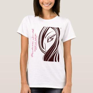 Camiseta Marcagem com ferro quente do cabelo e da empresa