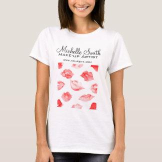 Camiseta Marcagem com ferro quente vermelha da composição