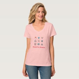 Camiseta Março para a ciência