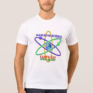 Camiseta Março para ciência Dia da Terra o 22 de abril de