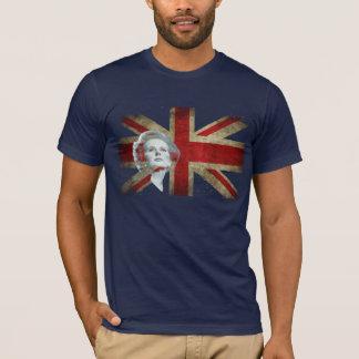 Camiseta Margaret Thatcher e a bandeira de Reino Unido