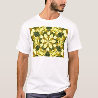 Camiseta margaridas abstratas florais amarelas do design