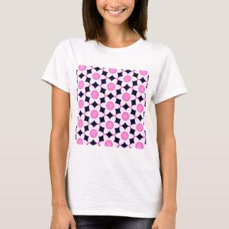 Camiseta Margaridas cor-de-rosa robustas no preto