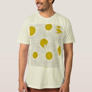Camiseta Marguerite colorido do roxo do teste padrão do