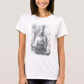 Camiseta Marie Antoinette - andando em um jardim