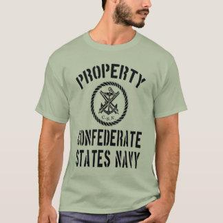 Camiseta Marinho confederado dos estados da propriedade