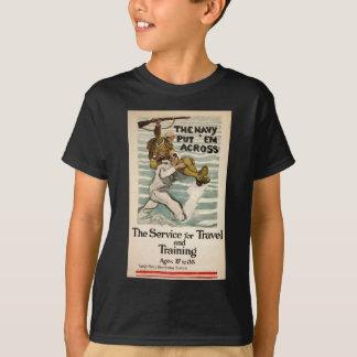 Camiseta Marinho do vintage