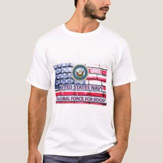 Camiseta Marinho dos E.U. uma força global para a boa