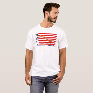 Camiseta Marinho Jack do aniversário dos EUA 250th primeiro