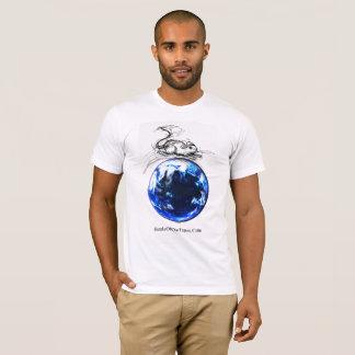 Camiseta Mármore azul grande sem fio do #jWe | do rato | da
