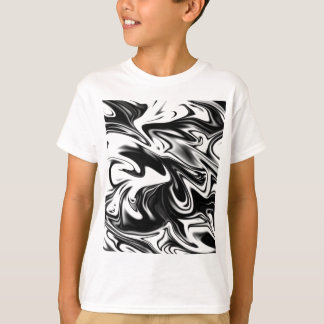 Camiseta Mármore branco preto liquefeito,